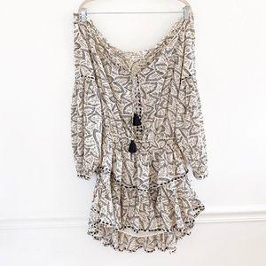 LoveShackFancy Leaf Moroccan Tassel Dress